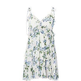 Crinkle Printed Midi Dress