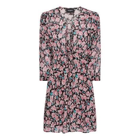 Floral Flared Dress, ${color}