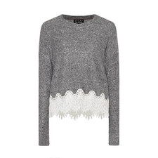 Fleece Dentelle Sweatshirt