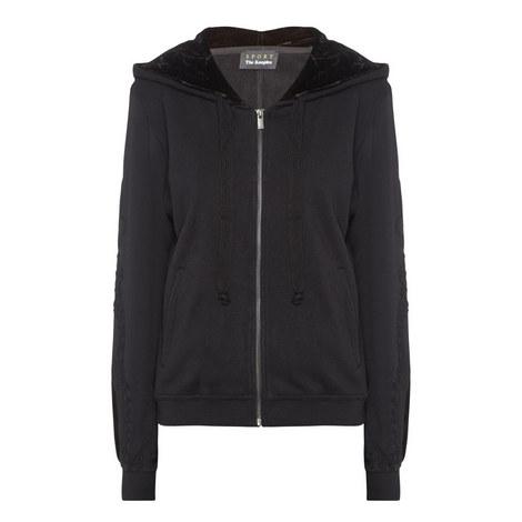Zipped Velvet Sweatshirt, ${color}
