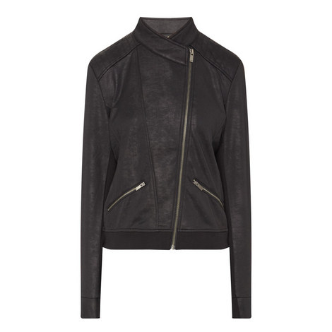 Waxed Leather-Effect Jacket, ${color}