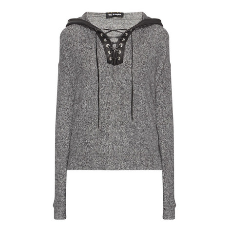 Marl Laced Detail Sweatshirt, ${color}