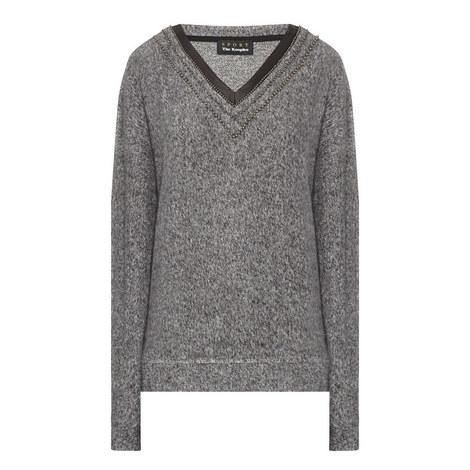 V-Neck Sweatshirt , ${color}