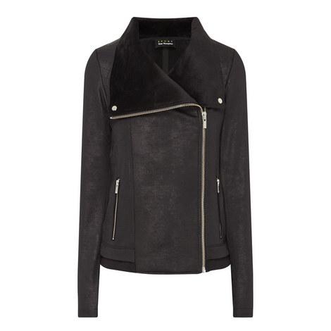 Leather-Effect Biker Jacket, ${color}