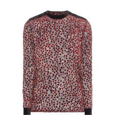 Cherry Flowers Polka Dot Blouse