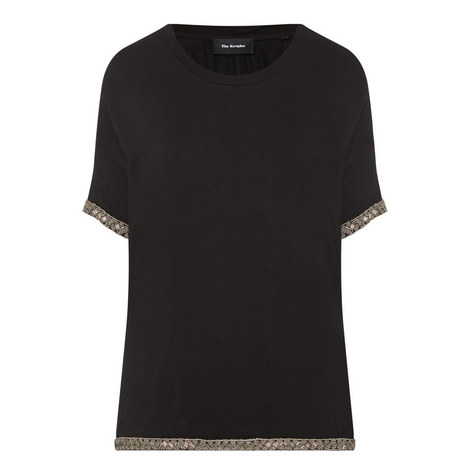 Jewelled Embroidery T-Shirt , ${color}