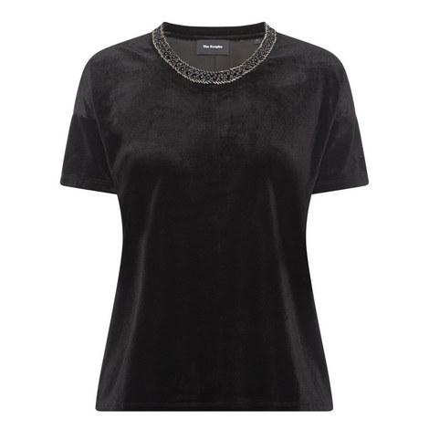 Beaded Velvet T-Shirt, ${color}