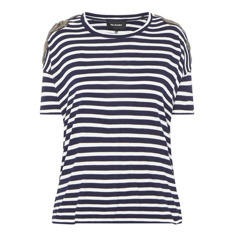 Embroidered Stripe T-Shirt, ${color}
