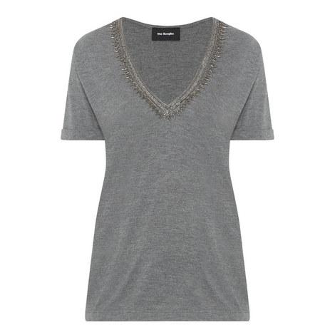 Sequin V-Neck T-Shirt, ${color}