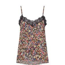 Floral Print Lace Camisole
