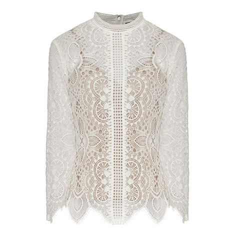 Openwork Lace Top, ${color}