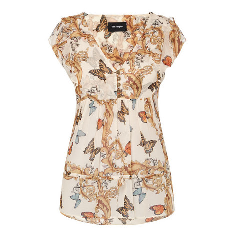 Butterfly Print Top , ${color}