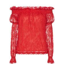 Palace Lace Off-Shoulder Top