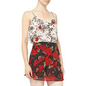 Flying Flowers Print Camisole, ${color}