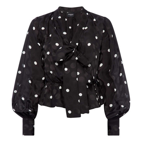 Shadow Dot Long-Sleeve Top, ${color}