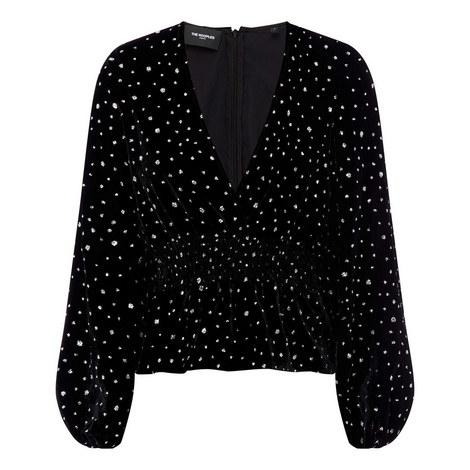 Sequin Velvet Top, ${color}