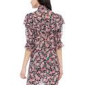 Raised Collar Floral Blouse, ${color}