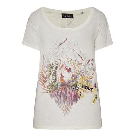 Short Sleeve Love Print T-Shirt, ${color}