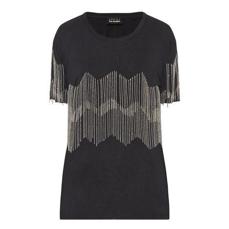 Chain Fringe T-Shirt, ${color}