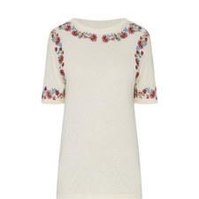 Fleurs D'Artifice Embroidered T-Shirt