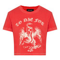 'To Die For' Slogan Print T-Shirt, ${color}