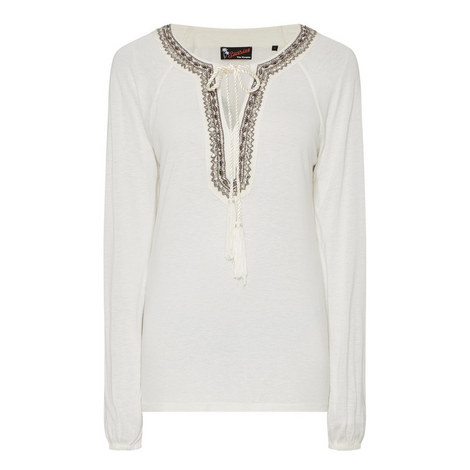 Long-Sleeved Jewelled T-Shirt, ${color}