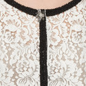 Contrast Trim Lace Jacket , ${color}
