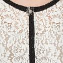Contrast Trim Lace Jacket, ${color}