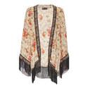 Fleurs D'Artifice Fringed Kimono, ${color}