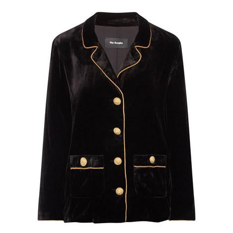 Pyjama-Style Velvet Jacket, ${color}
