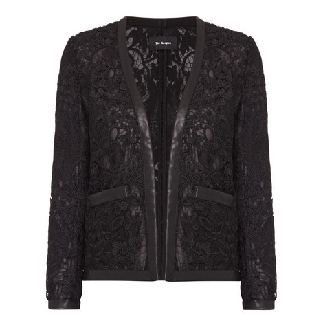 Lace and Leather Jacket, ${color}