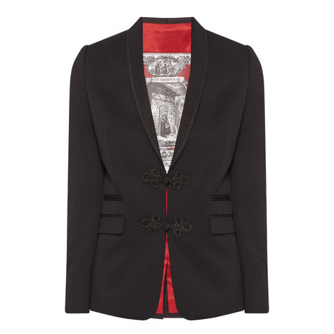 Embroidered Suit Jacket, ${color}