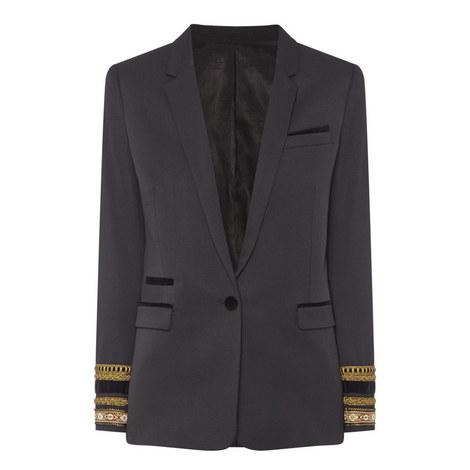 Braided Detail Suit Jacket, ${color}