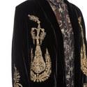 Velvet Embroidered Jacket, ${color}