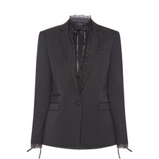 Satin Trim Tuxedo Jacket