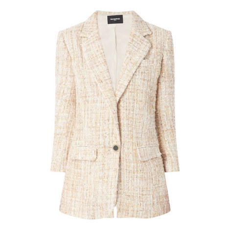 Glitter Tweed Jacket, ${color}
