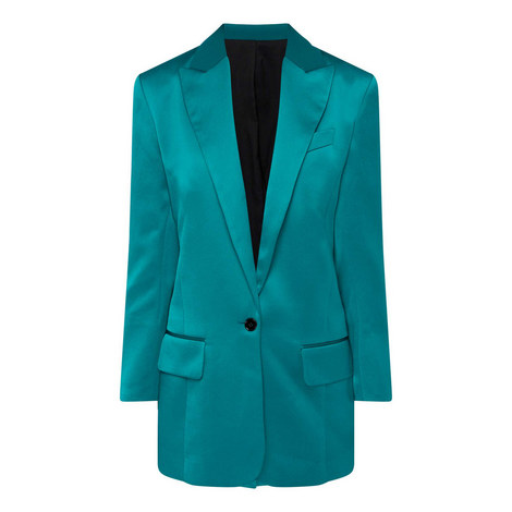 Satin Blazer Jacket, ${color}