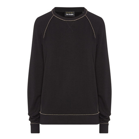 Jewel Beaded Sweatshirt, ${color}