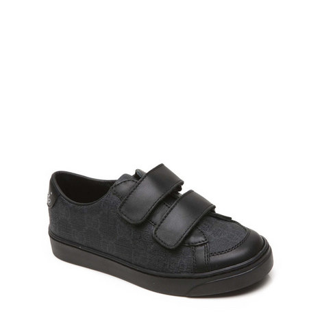 Two Strap Leather Trainers, ${color}