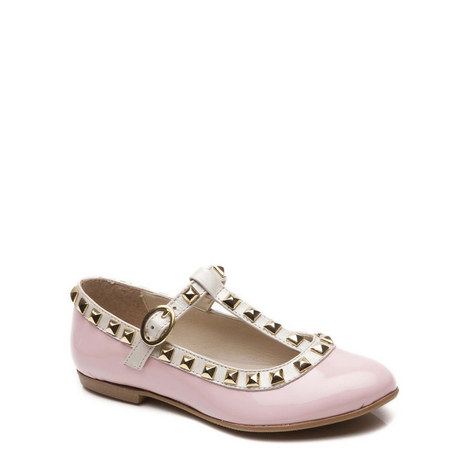 Venetia Studded T-Bar Shoes, ${color}