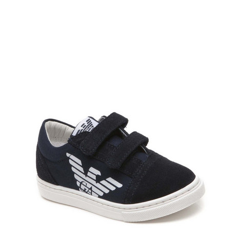 Two Strap Canvas Trainers, ${color}