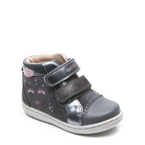 Girls Velcro High Top Trainers, ${color}