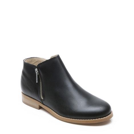 Girls Gail Zip Boots, ${color}