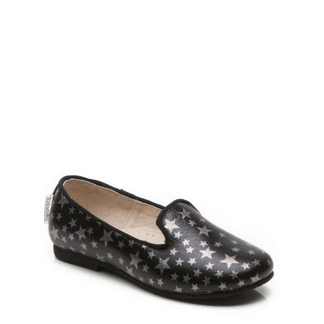 Girls Star Slip-On Shoes, ${color}