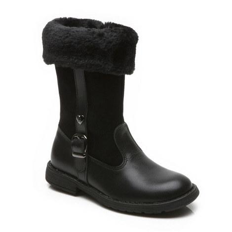 Girls Logan Zip Boots, ${color}