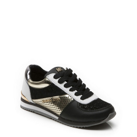 Panelled Lace Up Trainers, ${color}