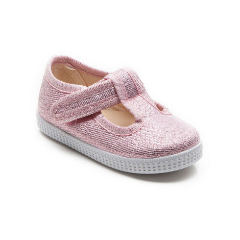 Mitch T-Bar Canvas Shoes Girls, ${color}