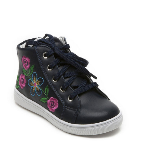Girls Flora Hightop Trainer, ${color}