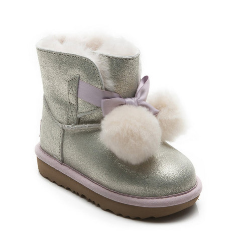 Gita Pom Pom Shearling Boots, ${color}