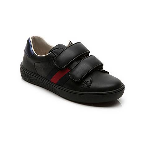 Leather Velcro Strap Trainers, ${color}